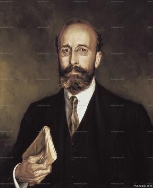 Ramón Menéndez Pidal. Retrato anónimo.